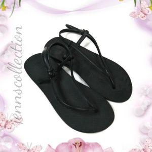 BLACK HAVAIANAS String Back Thong Sandal 7